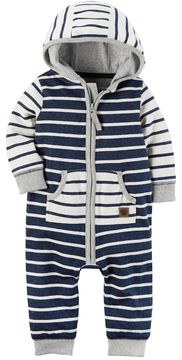 Carter's Baby Boy Striped Hooded Coverall