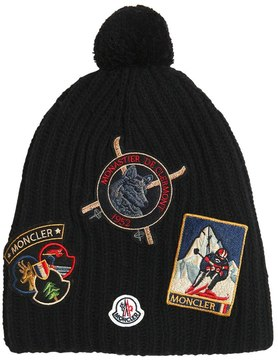 Moncler Wool Knit Hat W/ Patches