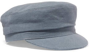 Isabel Marant Evie Cotton-canvas Cap - Blue