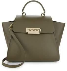 Zac Posen Eartha Leather Trapeze Bag