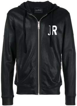 John Richmond back print logo zipped hoodie