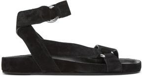 Isabel Marant Black Suede Loatis Easy Chic Sandals