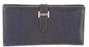 Hermes Lizard Bearn Wallet - BLUE - STYLE
