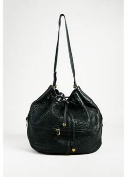 Jerome Dreyfuss Pre-owned Black Pebbled Leather alain Bucket Drawstring Bag.