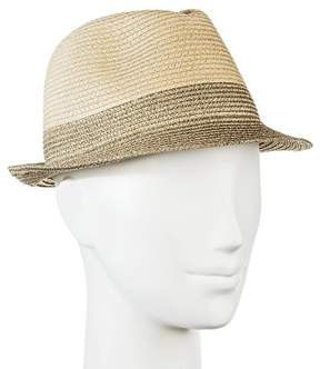 Merona Women's Straw Hat Fedora Tan with Shine