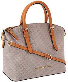 Dooney & Bourke As Is Claremont Woven Embossed Domed Satchel - ONE COLOR - STYLE