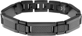Lynx Men's Stainless Steel & Carbon Fiber Bracelet and Lock Extender