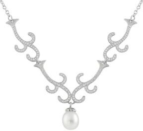 Bella Pearl Fancy Sterling Silver Freshwater Pearl Necklace