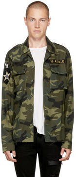 Amiri Green Camo Military Shirt