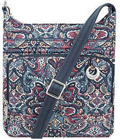 Travelon Anti-Theft Cotton Boho Square Crossbody