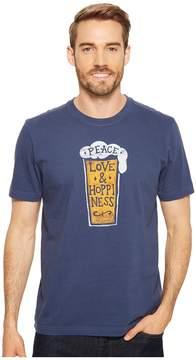 Life is Good Peace, Love Hoppiness Crusher Tee Men's T Shirt