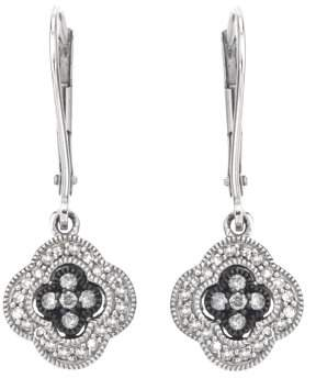 Armani Exchange Jewelry Diamond Dangle Earrings on Leverback in Sterling Silver (0.25 cts, H-I I2)