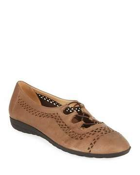 Sesto Meucci Bizzy Perforated Slip-On Flat, Brown