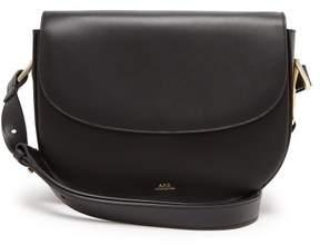 A.P.C. Odette Leather Cross Body Bag - Womens - Black