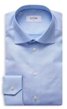 Eton Solid Slim-Fit Dress Shirt