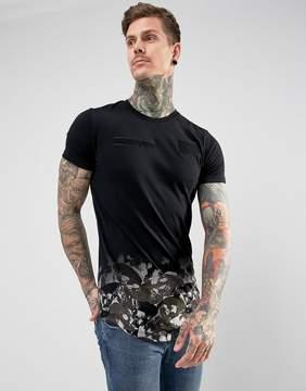 Religion T-Shirt With Camo Skull Hem
