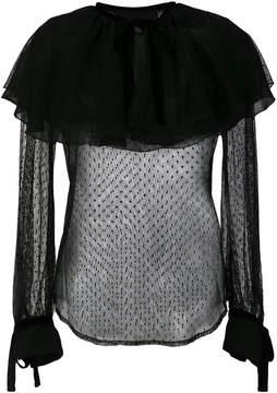 Christian Pellizzari semi-sheer ruffled blouse