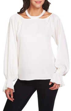 1 STATE Women's 1.state Cold Shoulder Satin Blouse