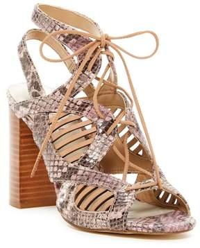 1 STATE 1.State Kayya Snakeskin Embossed Lace-Up Sandal