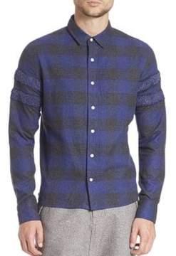 Mostly Heard Rarely Seen Long Sleeve Cotton Shirt