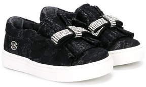 Miss Blumarine embellished bow detail sneakers