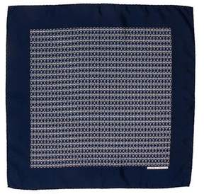 Hermes Silk Chain-Link Print Pocket Square