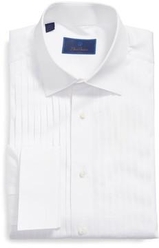 David Donahue Men's Regular Fit French Cuff Tuxedo Shirt