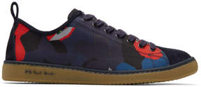 Paul Smith Navy and Red Camo Miyata Sneakers