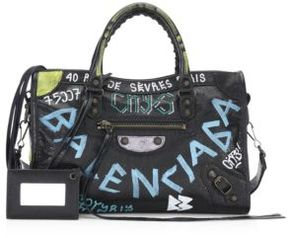 Balenciaga Small Graffiti Classic City Shoulder Bag