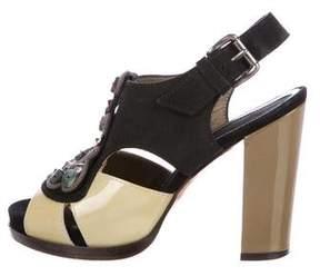 Marni Leather Embellished Sandals