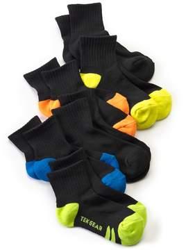 Tek Gear Boys 6-Pack Performance 1/4-Crew Socks