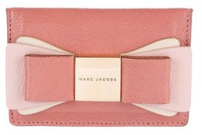 Marc Jacobs Leather Bow-Accented Card Holder - PINK - STYLE