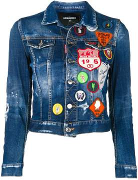 DSQUARED2 patchwork denim jacket