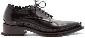 Simone Rocha Scallop-edged leather shoes