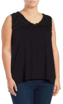 Context Plus mbroidered Hi-Lo Sleeveless Top