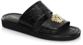 Versace Double Strap Leather Sandals