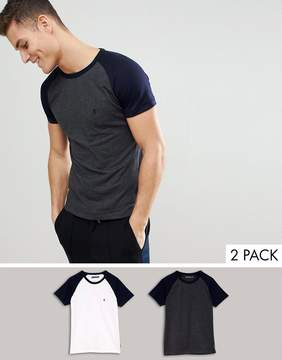French Connection 2 Pack Raglan T-Shirts