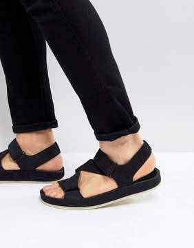 Clarks Ranger Nubuck Sandals In Black