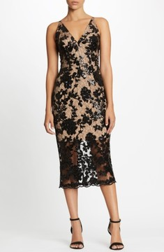 Dress the Population Women's Rebecca Floral Lace Midi Dress
