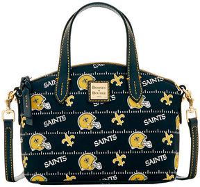 Dooney & Bourke New Orleans Saints Nylon Mini Crossbody Satchel - BLACK - STYLE