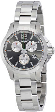 Longines Conquest Silver Dial Men's Chronograph Watch