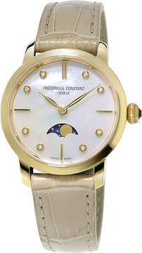 Frederique Constant FC-206MPWD1S5 Slimline Moonphase stainless steel and diamond watch