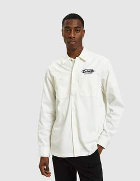 Carhartt Wip L/S Baltimore Shirt in Wax / Navy