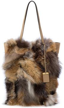 Michael Kors patchwork fur tote bag - BROWN - STYLE