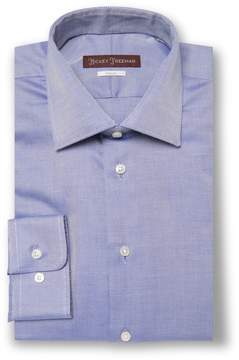 Hickey Freeman Men's Royal Oxford Classic Fit Cotton Dress Shirt