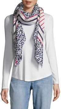 Karl Lagerfeld Women's Mixed Print Scarf