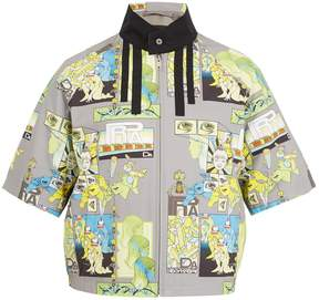 Prada Comic-print short-sleeved jacket