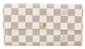 Louis Vuitton Damier Azur Canvas Sarah Wallet. - DAMIER AZUR - STYLE
