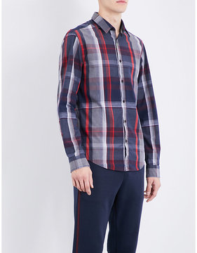 BOSS GREEN Checked regular-fit cotton shirt