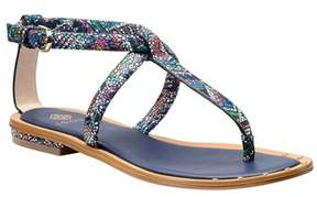 Isola Womens Mackenzie Leather Open Toe Casual T-strap Sandals.